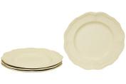 Red Vanilla Red Vanilla Classic Salad Plates - Set of 4, White, Stoneware