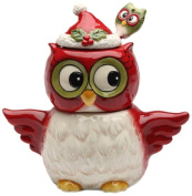 Cosmos Gifts 10909 Owl Design Holiday/Seasonal Sugar and Creamer Set with Spoon, 14cm