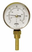 Winters TBT165 Dual Scale Steel HVAC Bi-Metal Thermometer, 5.1cm - 1.1cm Stem, 1.3cm NPT Bottom Mount Connexion, 7.6cm - 1.3cm Dial Display, 30-250 F/C Range