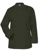 Newchef Fashion Olive Ladies Chef Jacket Long Sleeves