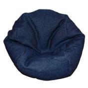 Ahh! Products Denim Dark Blue Bean Bag Chair for Dolls