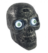 Motion Activated Skull with Glowing Eyes and Creepy Sounds - Halloween Prop Decoration