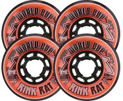 RINK RAT Wheels 72mm 82a WORLDCUP 4-Pack Orange/Black Inline Indoor Hockey