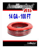 30m 14 Gauge Red Black Stranded 2 Conductor Speaker Wire Car Home Audio Ga