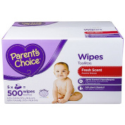 Parent's Choice Fresh Scent Baby Wipes, 500 count