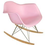 Fine Mod Rocker Arm Chair, Pink