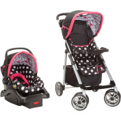 Disney Baby Minnie Mouse Coral Flowers Saunter Sport LC-22 Travel System