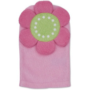 Gerber Newborn Girls' Flower Terry Bath Mitt
