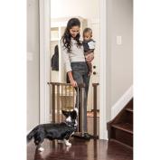 Evenflo Home Decor Walk-Thru Pressure Mount Gate, Brown