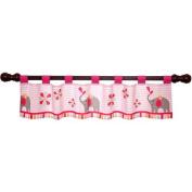 Bedtime Originals Jungle Sweeties Window Valance, Pink