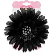 Gimme Clips Button Hair Clip, Dalmatian Black with Polka Dot