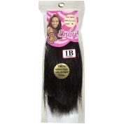 Envy Hair Collection Silky Straight Weave Hair Extension, 1B Off Black