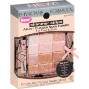Physicians Formula Shimmer Strips All-in-One Custom Palette for Face & Eyes, 6240 Natural Nude, 10ml