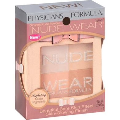 Physicians Formula Nude Wear Glowing Nude Powder, 6217 Light, 5ml