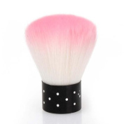 BMC Pink Coloured Synthetic Fibre Acrylic Manicure Dusting Brush Nail Art Tool
