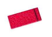 BEAUTY9 FBG015 Mirror Two Sided Fuchsia 5x Magnification Faux Croc Leather