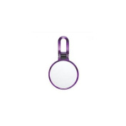 Danielle D1067DP Hand Held Purple Swirl Mirror