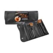 Danielle D143 6 PC Fold Tote Make-Up Brush Set- Black