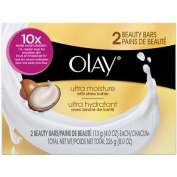 Olay Ultra Moisture Cleanser Beauty Bars Soap, 120ml, 2 count