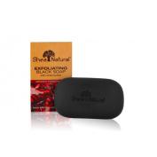 Shea Natural 1518166 Black Soap Shea Butter Exfoliating Midnight Pomegranate 150ml