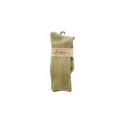 Maggie's Organics - Socks Cotton Crew Size 9-11 Olive - 1 Pair