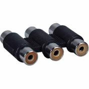 QVS RCA3-FF Triple RCA AV Coupler