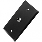 Seismic Audio Black Stainless Steel Wall Plate - One 0.6cm TS Mono Jack Black - SA-PLATE7