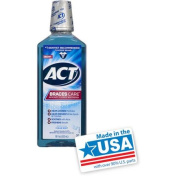 ACT Braces Care Clean Mint Anticavity Fluoride Mouthwash, 530ml