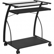Dorel Home Furnishings Black Mobile Computer Cart/ Desk