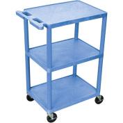 Luxor 3-Shelf Utility Cart, Blue