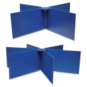 Pacon Round Table Privacy Boards - 120cm Width x 36cm Height - Blue