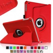 Fintie Rotating Multi-Angle Stand Smart Case Cover for Apple iPad Mini 2 (2013 Edition) & Mini (2012 Edition), Red