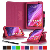 rooCASE ASUS MeMO Pad 7 ME176CX Case - Dual View Multi-Angle Stand 18cm 18cm Tablet Smart Cover - MAGENTA