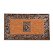 Design by AKRO Leaf Cocoa Doormat