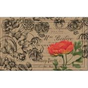 BuyMATS Inc. Naturelles Vintage Floral Peony Doormat
