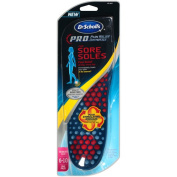 Dr. Scholl's P.R.O. Pain Relief Orthotics for Sore Soles, Women's Size 6-10, 1 pr