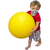 Sportime Gymnic Exercise and Play Ball with Thick Vinyl Exterior, 45cm , Yellow