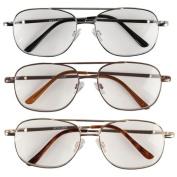 EasyComforts 5.00X Pilot Reading Glasses - 3 Pack