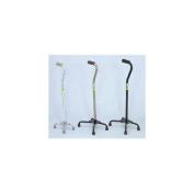 Essential Medical Supply, Inc W1302S Large Base Quad Cane - Silver
