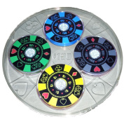 light show coasters and serving tray set - poker chips