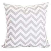 Majestic Home Grey Chevron Large Pillow