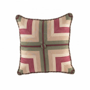 Waverly Laurel Springs Button Tufted Accent Pillow