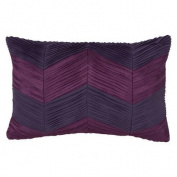 Collier Campbell Ziggurat Chevron Raw Edge Pleat Decorative Pillow
