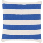 60cm Rayas Banderas Royal Blue and Light Grey Decorative Square Throw Pillow