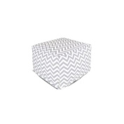Majestic Home Grey Chevron Large Ottoman
