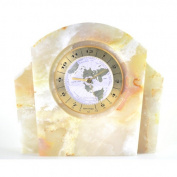 Nature Home Decor White Onyx World Clock