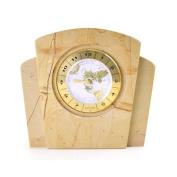 Nature Home Decor Teakwood Marble World Clock