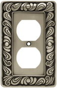 Brainerd Paisley Single-Duplex Wall Plate, Available in Multiple Colours
