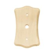 Brainerd Wood Scalloped Single Coaxial Wall Plate