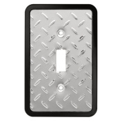 Brainerd 135858 Diamond Plate Single Switch Wall Plate / Switch Plate / Cover